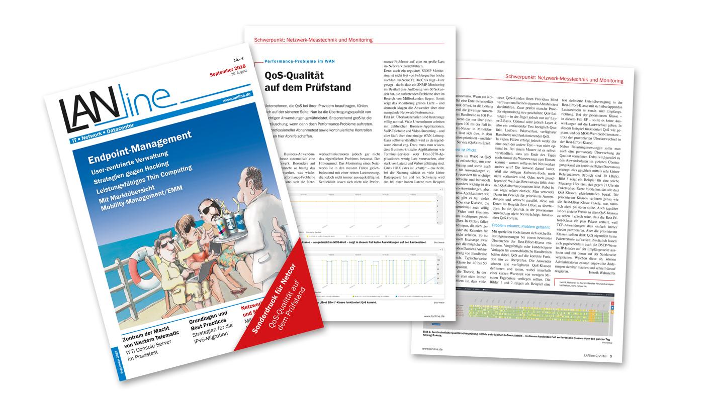 LANline Artikel: Performance-Probleme im WAN - QoS-Qualität auf dem Prüfstand